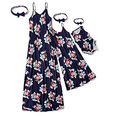 Materials: Mother daughter matching dresses are made of high-quality fabric, comfortable and durable, softshell, very pretty matching dresses for mother and daughters. Matching dresses for mother and daughter. Floral printed in colorful background dr...