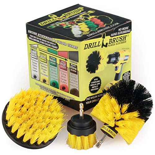 Drill Brush Power Scrubber by Useful Products Drill Brush Attachment -...
