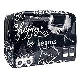 Bolsa de maquillaje portátil con cremallera bolsa de aseo de viaje para las mujeres práctico almacenamiento cosmético bolsa acogedora cocina
