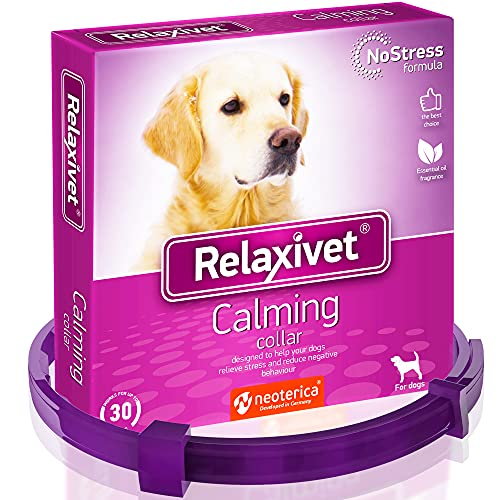 Relaxivet Calming Collar for Dogs   Improved...