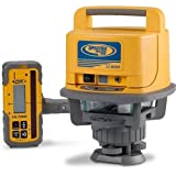 Spectra Precision LL500 Self-Leveling Laser Level with HL700 Receiver, C70 Rod Clamp, Alkaline Batteries, Carry Case