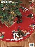 Bucilla Decorating the Tree 43' Round Christmas Tree Skirt Felt Applique Kit