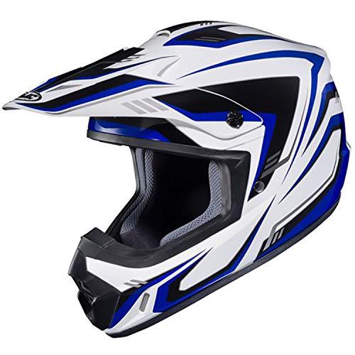 HJC(エイチジェイシー)バイクヘルメット オフロード ホワイト/ブルー(MC2) (サイズ:L) CS-MXII EDGE(エッジ) HJH123