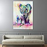 mlpnko Elefante Animal Kit de Pintura por Números Lienzo con Marco Lienzo Digital Pintura al óleo Regalo para niños, Estudiantes, Adultos Principiantes