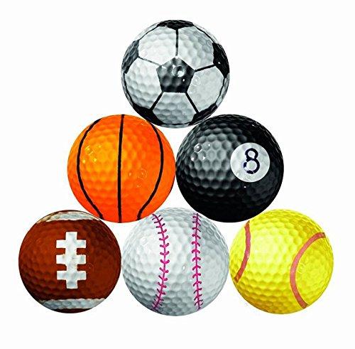 【Rurumi】おもしろ ユニーク ゴルフボール セット プリント ペイント ゴルフ ボール ジョーク グッズ アイ...