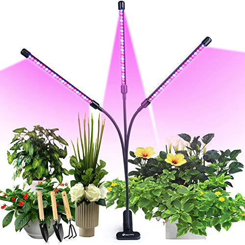 semai Pflanzenlampe LED 30W Pflanzenlicht Pflanzenleuchte Wachstumslampe Wachsen licht Grow Lampe Vollspektrum für Zimmerpflanzen mit Zeitschaltuhr, 3 Arten von Modus, 6 Arten von Helligkeit