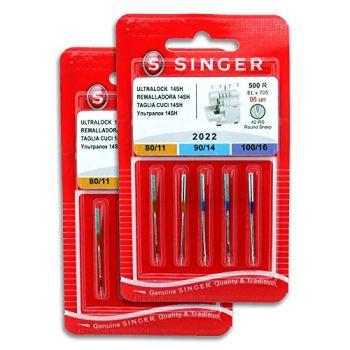 Singer 2 Pack Overlock Singer Needles 2022 500R ELx705 for Singer 14SH Sewing Machine