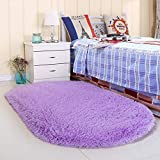 Noahas Ultra Soft 4.5cm Velvet Bedroom Rugs Kids Room Carpet Modern Shaggy Area Rugs Home Decor 2.6' X 5.3', Purple