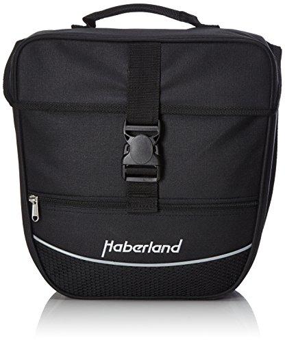 Haberland Unisex– Erwachsene Fahrradtasche Einzeltasche Einsteiger-Serie, schwarz, 12.5 L