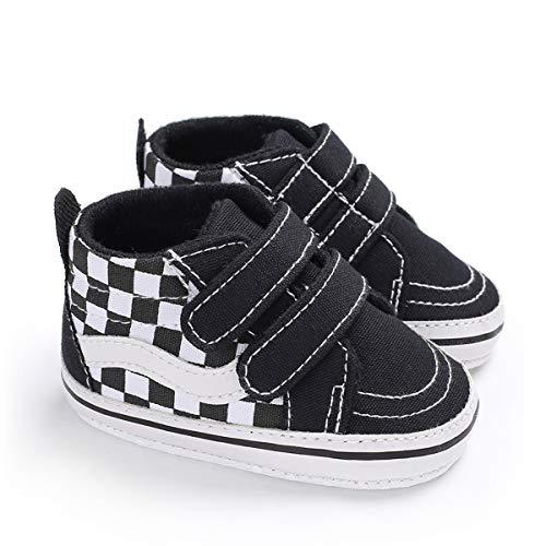 DEBAIJIA Bebé Primeros Pasos Zapatos de Lona6-12M NiñosAlpargata Suave Antideslizante Ligero Slip-on 18 EU Negro (Tamaño Etiqueta-2)