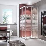 Schulte Paroi de douche accès d'angle avec portes coulissantes, verre...