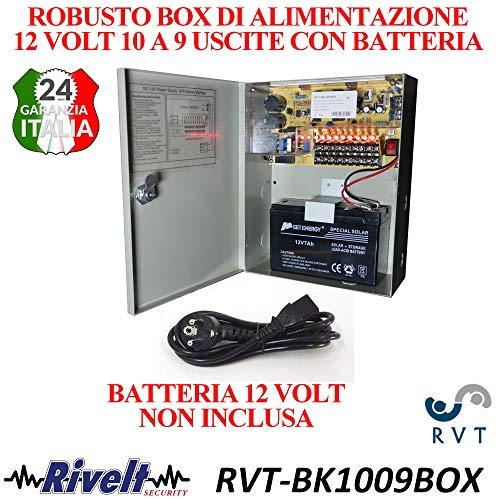 rvt Box di Alimentazione 12 Volt 15 Ampere con Funzione ups Batteria Non Inclusa