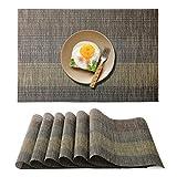Raniaco Set de Table Plastique - 6 PVC Set de Table Antidérapant Lavable...