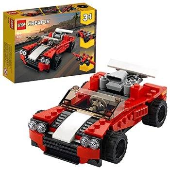 LEGO31100Creator3in1SportsCar-HotRod-PlaneBuildingSet,Toysfor7+YearsOldBoysandGirls