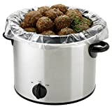 PanSaver 100 Count EZ Clean Slow Cooker Liners and Cooking Bags Perfect For Cholent, Stews, Fish and...