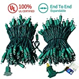MZD8391 Upgraded Stay-On 66FT 200 LEDs Christmas String Lights Outdoor Indoor - 100% UL Certified - for Wedding, Party, Patio, Porch, Backyard, Garden Decoration (Warm White)