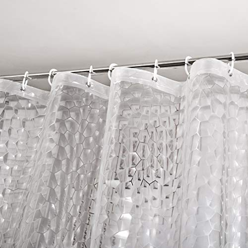 WELTRXE Heavy Duty EVA Shower Curtain Liner with Magnets Waterproof 3D...