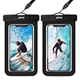 JOTO Universal Waterproof Pouch, IPX8 Waterproof Cellphone Dry Bag Underwater Case for iPhone 11 Pro Max Xs Max XR X 8 7 6S+, Galaxy S20 Ultra S20+ S10 S9 S8/Note 10+ 9 8 up to 6.9' -2 Pack,, Black