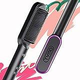 Hair Straightener Brush Matte Black
