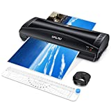 UALAU Laminator Machine, 9 Inches Hot & Cold Fast Lamination with Laminating Pouches, Paper Trimmer, Corner Rounder, 4 in 1 Thermal Laminator for Home/Office/School Use