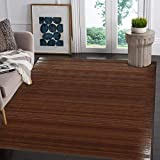 Bamboo 5' X 8' (60'x96') Floor Mat Area Rug, Bamboo Floor Runner Rug Indoor Carpet, Elegant Walnut Dark Brown Color Finish, Non Skid Backing, Area Mat for Living Room, Hallway, Kitchen, Office