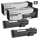 LD Compatible Toner Cartridge Replacement for Xerox Phaser 6510 & WorkCentre 6515 106R03480 High Yield (Black, 2-Pack)