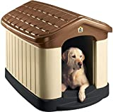 Pet Zone Tuff-N-Rugged Weather-Resistant Dog House. (Durable, Double Walled Plastic Dog House) [Outdoor Dog House, Indoor Dog House, Large Dog House]
