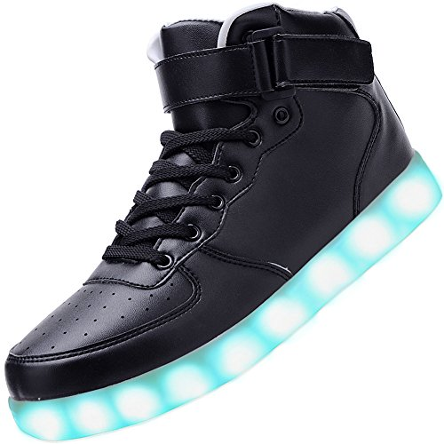 Odema Unisex Shuffle High Top Sneakers LED Shoes