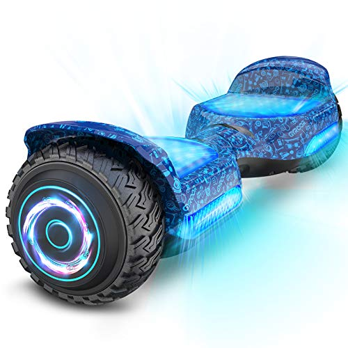 Gyroor Hoverboard Off Road All Terrian 6.5' Two-Wheel G11 Flash LED Light Self Balancing Hoverboards...