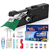 buyfitcase Portable Sewing Machine, Mini Sewing Professional Cordless Sewing Handheld Electric Household Tool - Quick Stitch Tool for Fabric, Clothing, or Kids Cloth Home Travel Use-Black8113-1