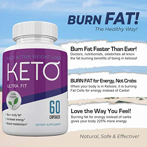 Keto Ultra Fit - Fast Acting Weight Loss with Metobolic Ketosis Support - 180 Capsules - 3 Month Supply 4