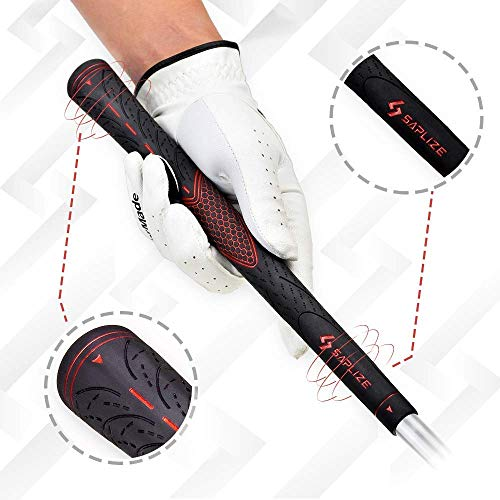 Product Image 2: SAPLIZE Golf Grips Set 13 Pieces with Regripping Kit Midsize Anti-Slip Rubber Red Golf Club Grips