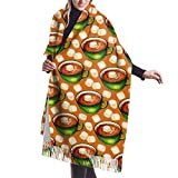 Accessoires de Robes, écharpe à Franges, Tapisserie, Couverture, Chocolat Chaud au Chocolat Chaud de qualité supérieure Longues Grandes écharpes Chaudes enveloppent étole de châle Pashmina