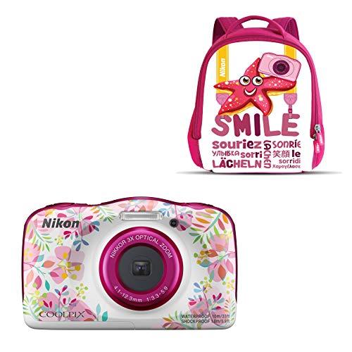 """Nikon Coolpix W 150 - Cámara digital compacta de 13.2 MP (pantalla LCD de 3"""", video full HD, impermeable, estabilizador óptico) rosa/blanco"""