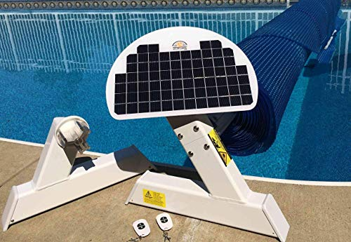 Automatic Solar Blanket Cover Reel/Roller - Remote Controlled, Solar Battery Charged/Powered, Motorized Units for 20x40' in-ground Swimming Pools.