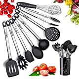 Silicone Cooking Utensils Kitchen Utensil set - Stainless Steel...