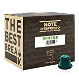 Note d'Espresso - Lot de 100 capsules de café Brasile exclusivement...