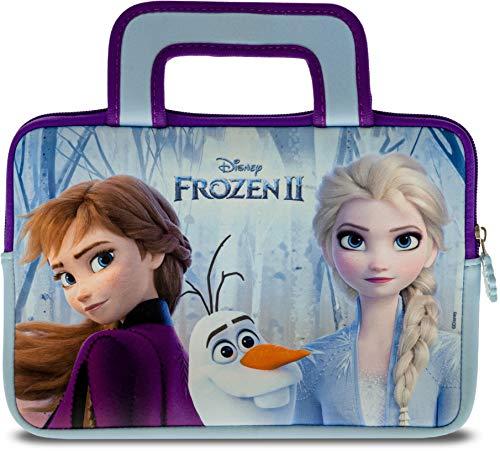 """Pebble Gear Disney Frozen 2 Tragetasche - Universell einsetzbare Neopren Kinder Tasche mit Die Eiskönigin 2-Motiv, geeignet für 7"""" Tablets (Fire 7 Kids Edition), robuster Reißverschluss"""