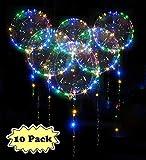 Zodight 10 PCS Ballons d'hélium LED - 18 Pouces Transparent Lumineuse...