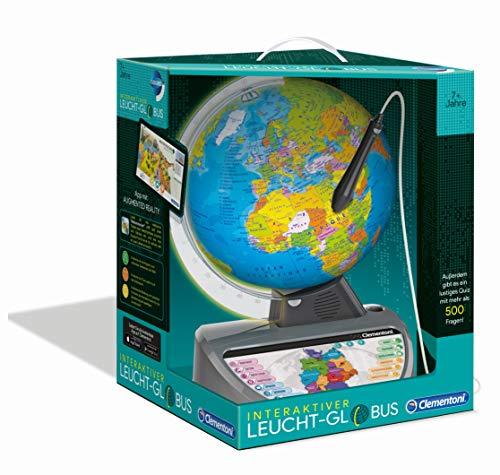 Clementoni Galileo Science 59183 Globe terrestre Lumineux interactif avec Questions et Faits Jouet éducatif pour Enfants à partir de 7 Ans Idée Cadeau pour Pâques