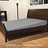 Cover for Avana Mattress Elevator - Queen Size, Cover ONLY, 7 Inch Size, 100% Cotton, Grey