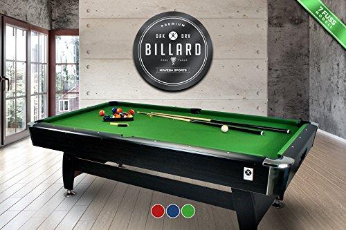 Pool-/Billardtisch, grün, für Innenräume, 2,13 m