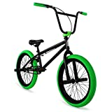 "Elite 20"" & 16' BMX Bicycle The Stealth Freestyle Bike (20' Black Green)"