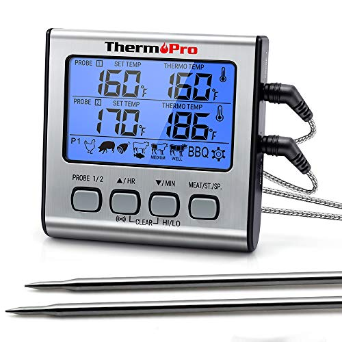 ThermoPro TP17 Dual Probe Digital Cooking Meat Thermometer