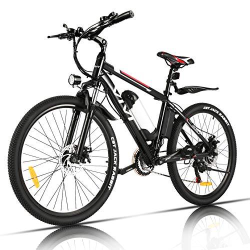 VIVI Vélo Électrique Adulte Vélo de Montagne 26' avec Moteur 350W, Batterie 36V/8Ah Amovible/Engrenages 21 Vitesses/ 32km/h/Kilométrage de Recharge Jusqu'à 40km