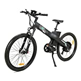 ECOTRIC 26 Electric Bike 2018 Update 1000W Powerful Motor 48V/12AH Electric City Bicycle 7 Speeds LED Display Lithium Battery, Max Speed: 20 mph/h (Black)