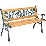 TecTake Banc de jardin en bois | diverses modèles ('Marina' 128 x 51 x...