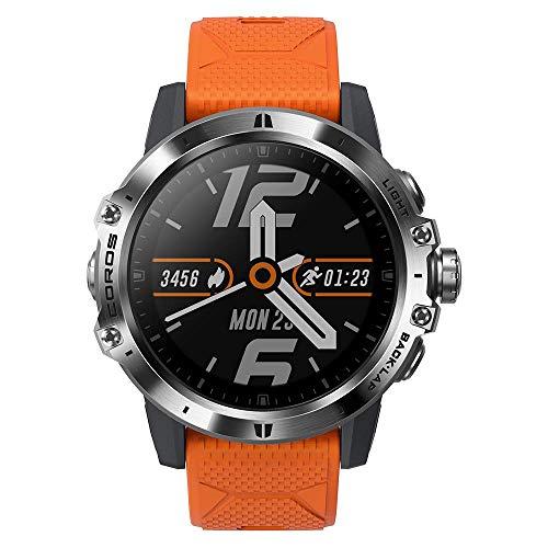 COROS VERTIX GPS Adventure Watch con batteria GPS completa per 60 ore, vetro zaffiro con rivestimento simile al diamante, touch screen, barometro, ANT + e BLE, Strava e TrainingPeaks (Fire Dragon)