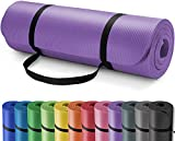 Yoga Mat - Non slip Yoga Mat Make of Excellent Quality Material, High-Elasticity 72 inch Large Yoga Mat for Women Thick Workout Mat with Strap, ECO-friendly Exercise Mat for Home Pilates Fitness (Purple...)