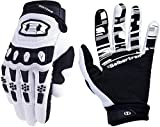 Seibertron Dirtpaw Unisex BMX MX ATV MTB Racing Mountain Bike Bicycle Cycling Off-Road/Dirt Bike Gloves Road Racing Motorcycle Motocross Sports Gloves Touch Recognition Full Finger Glove White S